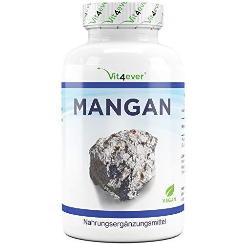 Vit4ever Mangan 10 mg - 240 Tabletten - 8 Monatsvorrat - Laborgeprüft - Hohe Bioverfügbarkeit...