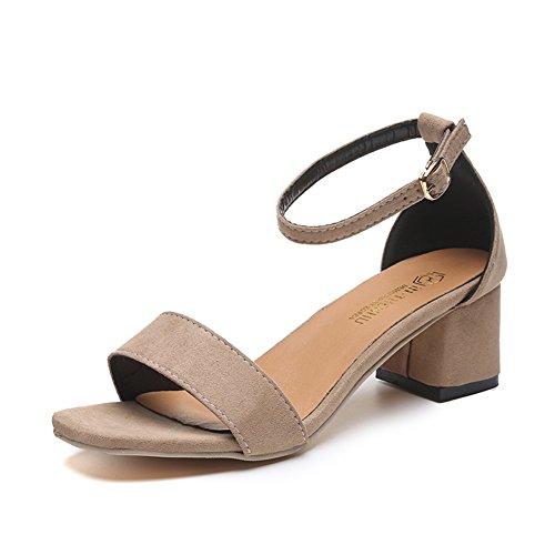 Style sandales de collège/La version coréenne de la chaussure polyvalente open toe/bouton avec anti-dérapant sandales B