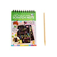 R-Cors Fun DIY Doodling Drawing Magic Scratch Painting Book Kids Learning Christmas Gift Magic Drawing Board Scratch Art with Decorative Painting