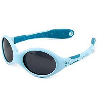ActiveSol Baby-Sonnenbrille | Jungen | 100% UV 400 Schutz | polarisiert | unzerstörbar aus flexiblem Gummi | 0-2 Jahre | 18 Gramm [Size S - Fish]