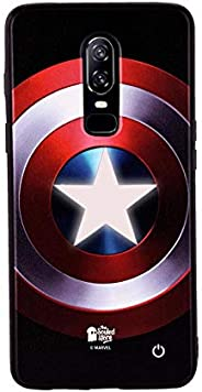 The Souled Store Captain America: Classic Shield OnePlus 6 LED Mobile Case Multicolor