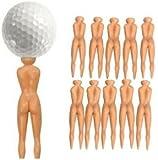 Nude Ladies Golf Tees - Pack of 10 Nuddie Naked Golfers Ball Tees