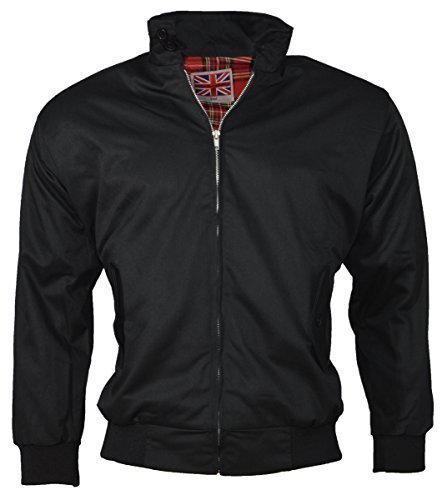 """Urban couture clothing-retro veste """"harrington"""" Noir - Noir"""