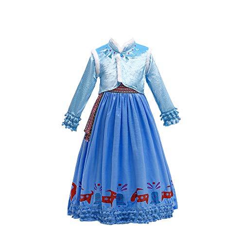 Prinzessin Kleider Für Mädchen Prinzessin Mädchen Snow Queen Party Cosplay Kinder Kostüm Schnee Print Party Kleid Vestidos Kinder Mädchen Kleidung ()