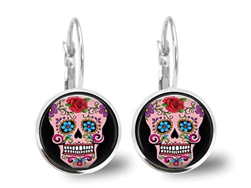 Sugar-Skull-Ohrringe für Damen, Schleifwerkzeug