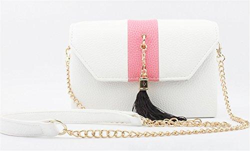 Good Night Di cuoio di modo splicing colori delle donne borsa della busta Borsa a tracolla Multicolore