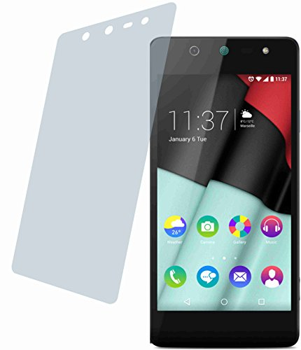 4ProTec Wiko Selfy 4G (2 Stück) Premium Bildschirmschutzfolie Displayschutzfolie kristallklar Schutzhülle Bildschirmschutz Bildschirmfolie Folie