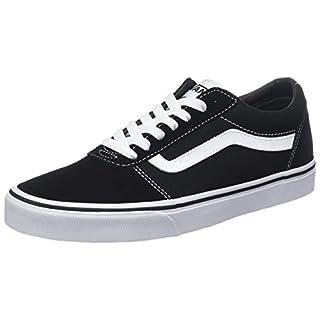 Vans Herren Ward Canvas Sneaker, Schwarz ((Suede Black/White C4R), 41 EU