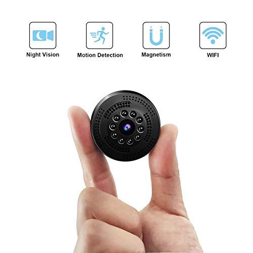 Mini Kamera, TDW HD 1080P Mini Überwachungskamera WLAN Kabellos IP Kamera mit Handy App Aufzeichnung für Aussen Innen Monitor
