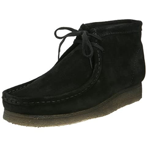 Clarks Wallabee Boot Chelsea Boots Mens Black Schwarz (Black Suede) Size: 6 (40 EU)