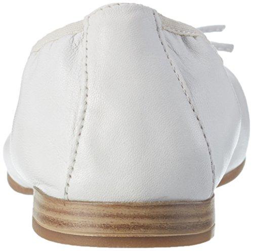 Tamaris 22116, Ballerines Femme Blanc (WHITE 100)