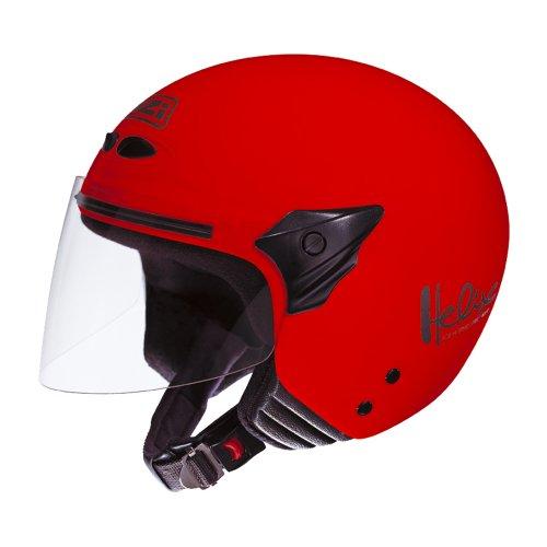 NZI 050137G058 Helix II Junior Motorcycle Helmet, Size L, Red