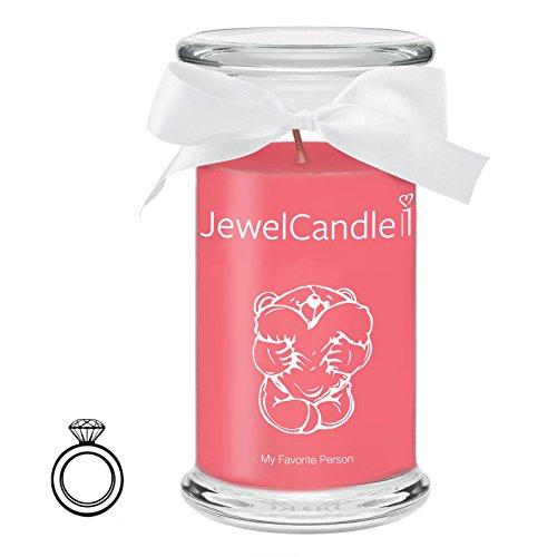JewelCandle My Favorite Person - Bougie Parfumée avec Bijou Surprise en Arg