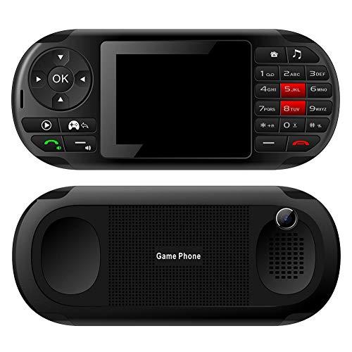 xiangpian183 2,8-Zoll-Handheld-Spielekonsole Moblie-Telefon für Kinder, tragbar 2 in 1 LCD-Bildschirm Speicherkarte Unterstützung 4-Frequenz-Spiel Dual Card Electronics Devicies (Gsm 1800-entsperrt Handy)