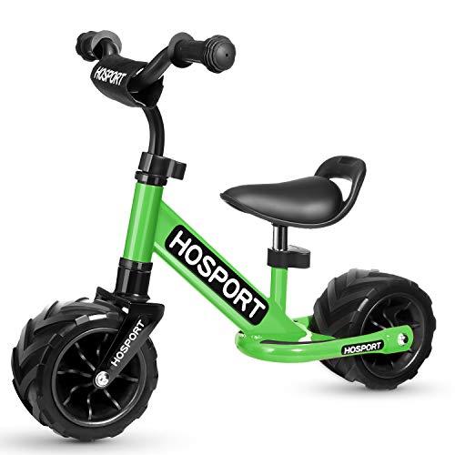 HOSPORT Kinder Laufrad für Kleinkinder Lauflernrad Balance Bike von Jungen und Mädchen 18 Monaten bis 3,5 Jahren Kinderlaufrad Training Bike mit Höhenverstellbar (Grün)