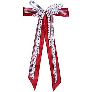 Große Schultütenschleife rot-weiß