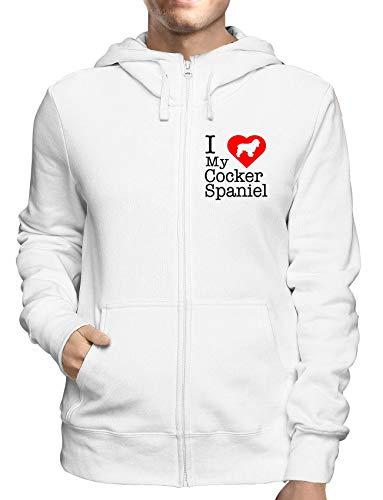 Sweatshirt Hoodie Zip Weiss WTC1687 i Love My Cocker Spaniel Cocker Spaniel T-shirt Sweatshirt