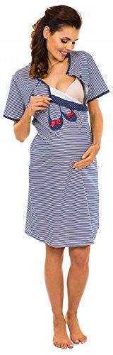 Zeta Ville Maternité- Robe / Chemise nuit allaitement - MÉLANGEZ & COMBINEZ 363c Chemise de nuit - Marine