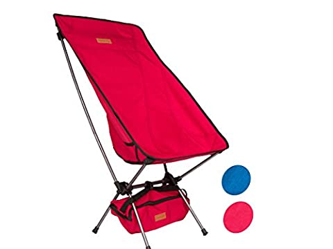 Trekology YIZI HIGH BACK Portable High Back Camping Chairs with Head Rest - Compact Ultralight Heavy Duty Backpacking Chair with Carry Bag & Full Back Support for Hiker, Camp, Beach, Fishing,