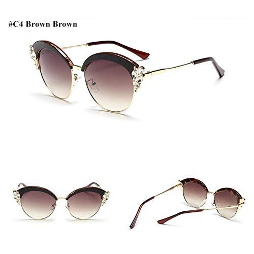 SKCLBOOS Sonnenbrillen Vintage Sonnenbrille Diamant Frauen Retro Shades Sonnenbrille für Frauen männer Damen weibliche Sonnenbrille Spiegel 2017