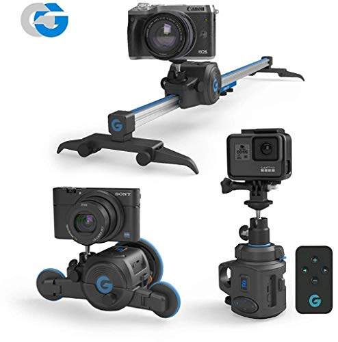 The Directors Set -All in one, Electronic Slider & 360° Panoramic Mount & Micro Dolly Iphone Micro Grip