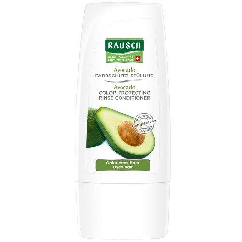 Rausch Avocado Farbschutz-Spülung (schenkt coloriertem, gesträhntem Haar intensive Farbkraft, ohne Silikone und Parabene - Vegan), 4er Pack (4 x 30 ml)