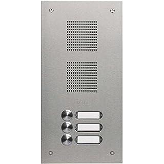 Grothe station de porte en acier inoxydable v2A tS 788 klingeltableau 4011459788131 1 à 3, une rangée