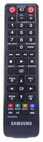 Fernbedienung für Samsung BD-F5100 Blu-ray and DVD Player - Mit zwei 121AV AAA Batterien enthalten
