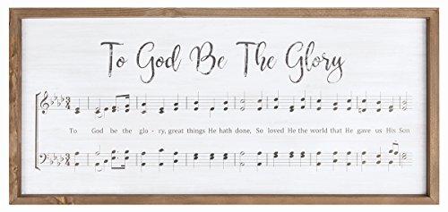 P. Graham Dunn zu Gott Werden die Herrlichkeit Rustikal Noten 85,1x 39,4cm Wandschild Holz gerahmt (Herrlichkeit Haus)