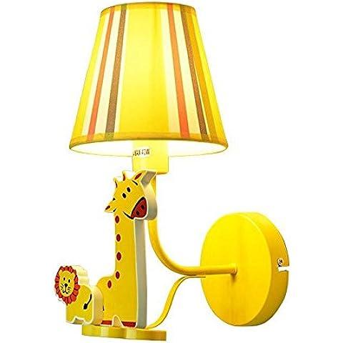 KMDJ Grazioso Cartoon giraffa tessuto Lampada da parete Creative Baby Room luce da parete Kids (Giraffe Corda)