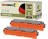 2er Pack TONER EXPERTE Schwarz Premium Toner kompatibel für Brother DCP-9015CDW, DCP-9017CDW, DCP-9022CDW, HL-3142CW, HL-3152CDW, HL-3172CDW, MFC-9142CDN, MFC-9332CDW, MFC-9342CDW