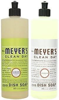 Mrs. Meyer's Clean Day Dish Soap, Lemon Verbena & Lavender, 16 Oz Each