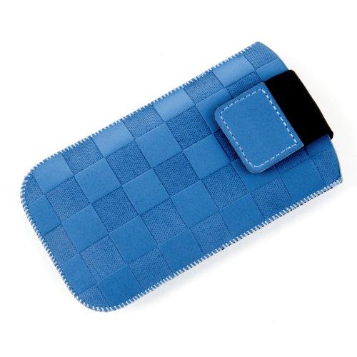 NFE² Etui offen - blau - mit Ausziehlasche und flacher Gürtelschlaufe für Samsung SGH-D780