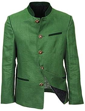 Elmau Herren Trachtensakko grün, originale Trachtenjacke, taillierter Trachten-Janker zur Trachten-Lederhose