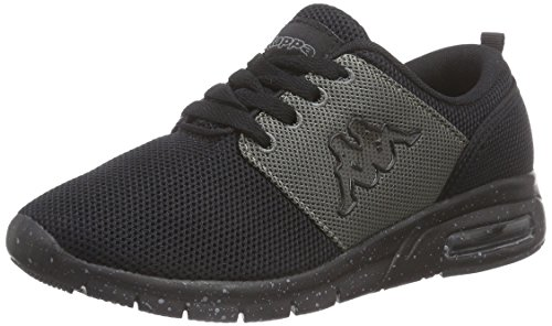 Kappa Routine Unisex-Erwachsene Low-Top Schwarz (1116 BLACK/GREY)