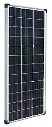 enjoysolar® Mono 100W Monokristallines Solar panel 100Watt ideal für Wohnmobil, Gartenhäuse, Boot (Einzelverpack)