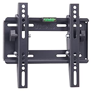 """Duronic TVB123S Heavy Duty Adjustable Black Wall Bracket For Plasma, LCD & LED Screens For 22"""" - 37"""" Wide Screens VESA: 200, 100 - With Tilt down"""