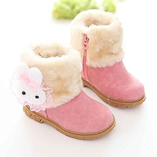 Clode® Mädchen Nette Art und Weisewinter Baby Kind Art Baumwollstiefel warme Schnee Aufladungenc Rosa