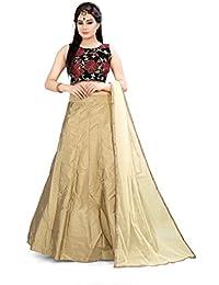 Shree Rang Creation Khaki Taffteta Silk Designer Lehenga Choli(AFL-16_Khaki_Free Size)