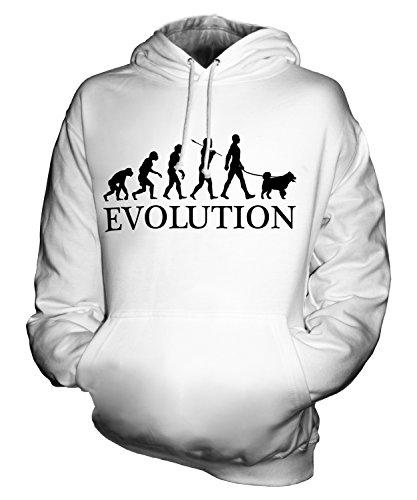 candymix-siberian-husky-evolution-des-menschen-und-hund-herren-t-shirt-grosse-x-small-farbe-weiss