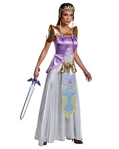 Zelda Kostüm S-L 5-tlg. M (Zelda Kostüme Erwachsene Für Prinzessin)