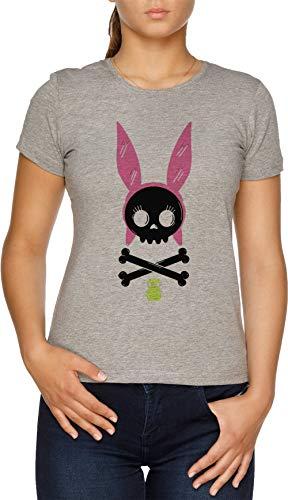 Schädel Louise - Bob Burgers Damen T-Shirt Grau (Bobs Burgers Geschenke)