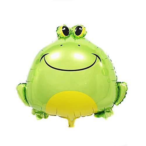 CAOLATOR Frosch Ballon Frosch Luftballons Aufblasbare Folienballons für Festival Party Taufe Geburtstag Urlaub Dekoration Metallic 62x56cm