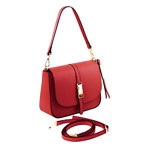 Tuscany Leather Nausica Borsa a tracolla in pelle Nude Rosso