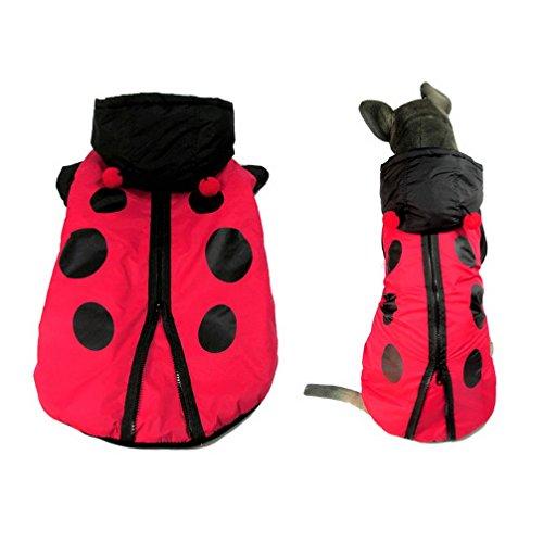 ranphy Hund Kleidung für mittlere Doggy Marienkäfer Kostüm Tier/Katze Fell Hoodie Apparel