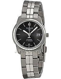 Tissot Tissot PR100 Negro Dial Titanio Pulsera Damas Reloj T0493104406700
