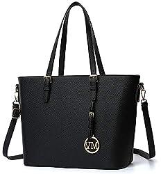 Vanessa & Melissa Damen Handtasche Kunstleder groß Vanessa & Melissa Damen Shopper Handtasche, praktische große Allrounder Tasche für Schule Alltag Einkaufen