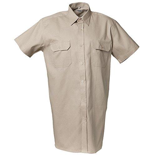 Preisvergleich Produktbild Planam Köperhemd 1 / 4 Arm Größe 43 / 44,  XL,  khaki,  412043