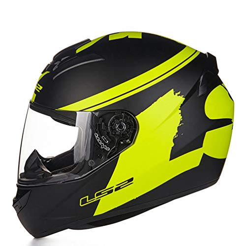 Erwachsene Full Face Motorrad Helm Anti Fog Transparente Linse Motorradhelme Unisex Moto Sicherheitskappen für Motocross Racing - Motorrad Lazer Helm