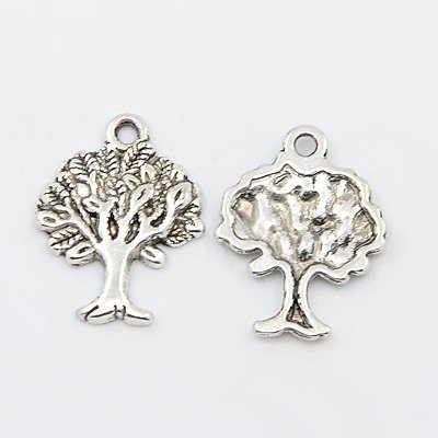 HOUSWEETY 60PCs Silver Fairy Charms Pendants 21x15mm